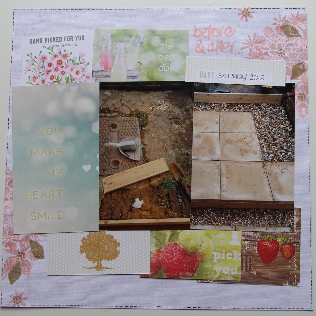 Scrapbook Layout Patio DIY