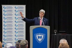 U.S. Secretary of State John Kerry speaks with an audience of the Conference of President of Major American Jewish Organizations about the U.S./E.U./P5+1 Iranian nuclear deal at Yeshiva University in New York, N.Y., on July 24, 2015. [State Department photo/ Public Domain]
