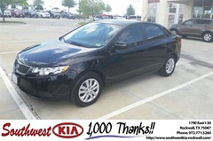 #HappyAnniversary to Monica Scott on your 2012 #Kia #Forte from James Adams at Southwest KIA Rockwall!