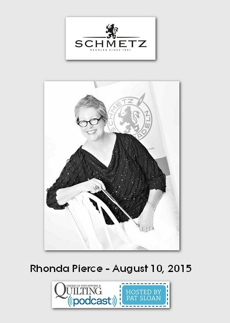 American Patchwork and Quilting Pocast guest Rhonda Pierce Aug 2015