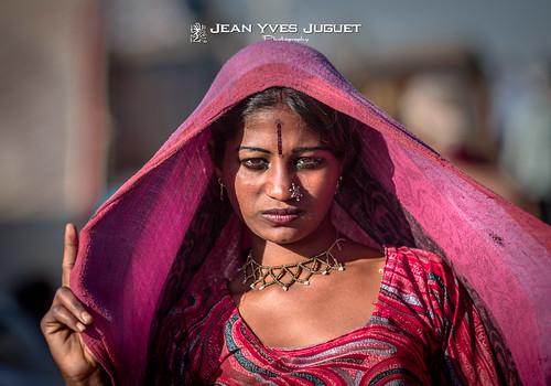 Gitane à la Foire de Chameaux de Pushkar (Rajasthan - Inde) - Gypsy at the Pushkar Camel Fair (Rajasthan - India)
