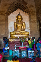 Inside a stupa in Bagan
