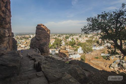 india ancient karnataka badami caves vatapi bagalkot sandstone