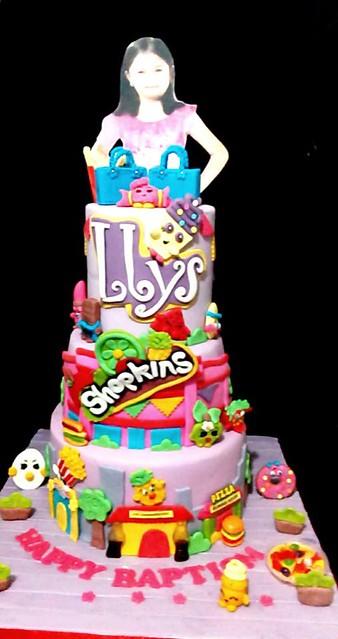 Shopkins Fondant Cake by Fritz FairyKeykz