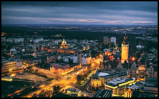 Aussicht auf Leipzig