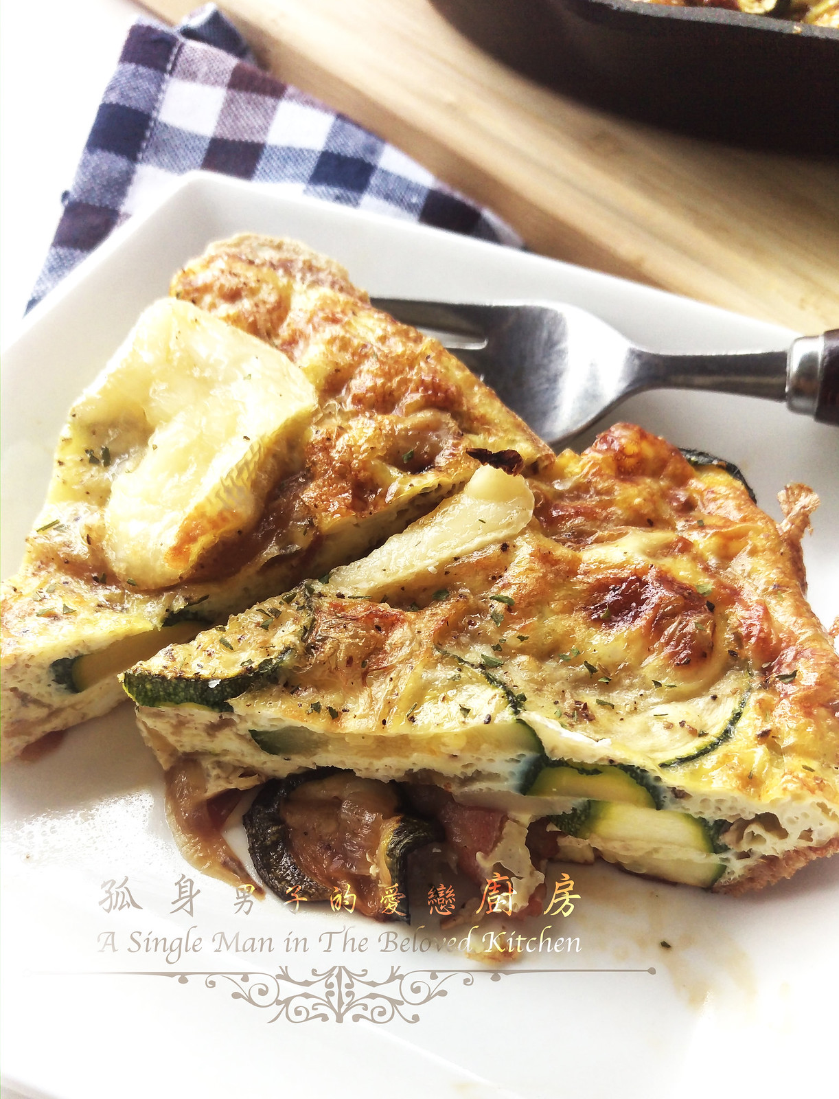 孤身廚房-清冰箱簡單早午餐!培根野菇櫛瓜義式烘蛋Frittata23