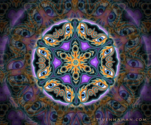 purple and orange mandala