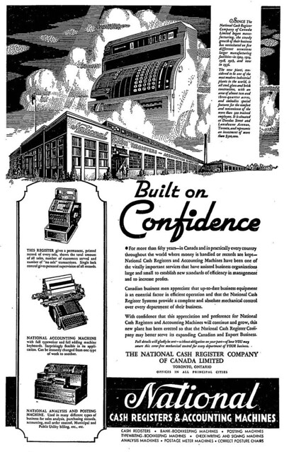 Vintage Ad: NCR is Built on Confidence