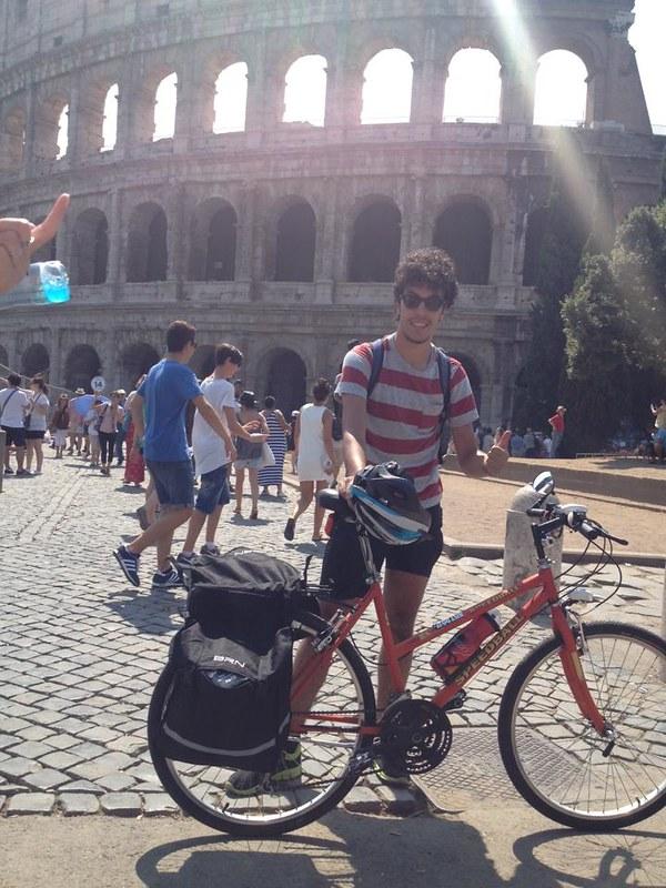 Ai piedi del Colosseo, Giuseppe Dell'Aere alla partenza