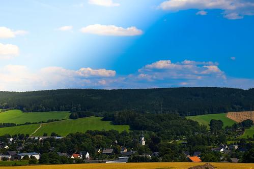 Blick ins Erzgebirge Zwönitz