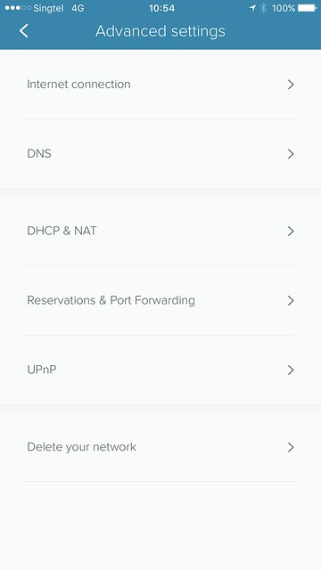 eero iOS App - Settings - Advanced Settings