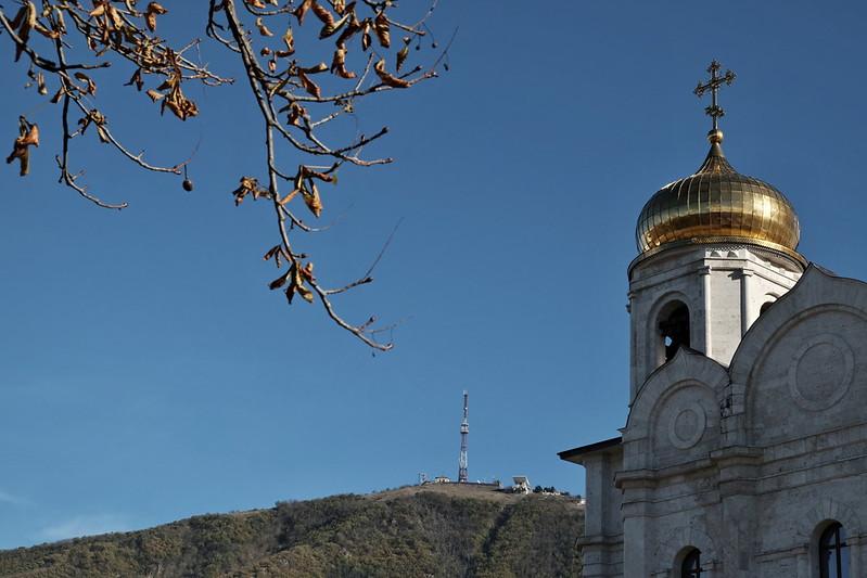 Спасский собор и гора Машук. Пятигорск
