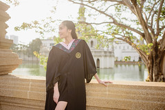 Thai girl with chinese commencement