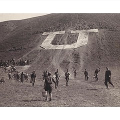 #ThrowbackThursday: Building the #BlockU was a team effort back in the 1900s. They sure did a fantastic job.  #GoUtes #UofU #universityofutah #Utah #U #TheU