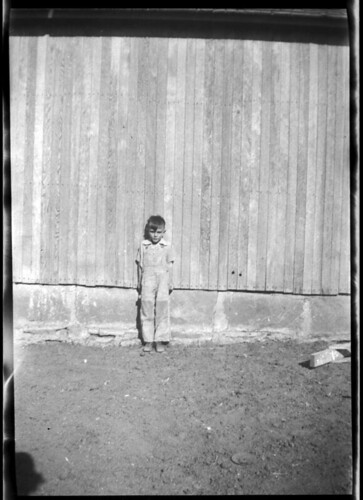 Small Boy and Wall
