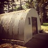 Quonset hut (modelled on British Nissen hut, made in Rhode Island) Base One Europe #Derry #USMarineCorps