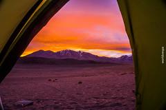 Wild camping at 4,200m