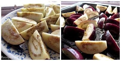 Pecene baklazany s granatovym jablkom