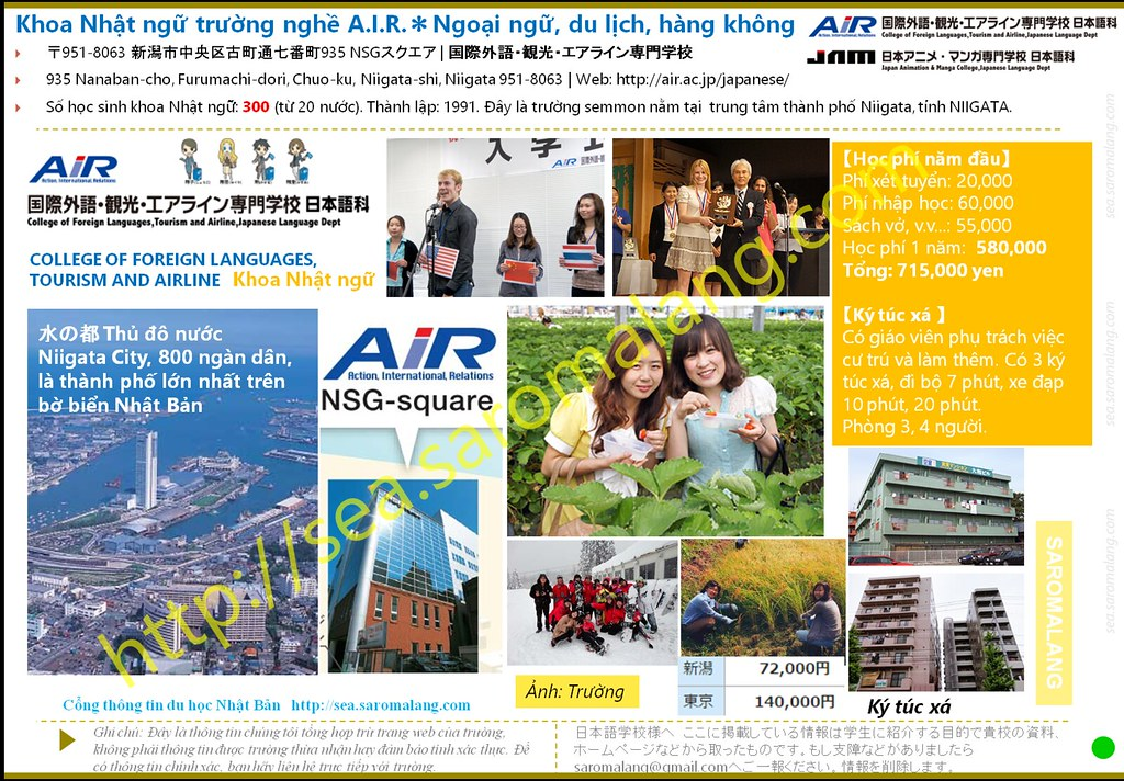Khoa Nhật ngữ trường ngoại ngữ, du lịch và hàng không AIR @Niigata