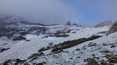 Neige sur la crête de Cima a I Mori