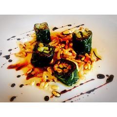 Presse de verduretes farcides a la catalana al #restaurant #Aires del @hotelperalada de la mà del #chef #XavierSagrista #esperalada #emporda #igersGirona #igersemporda #igerscatalunya #incostabrava #cosesdeperalada #peralada #pereladagolf #pereladaresort
