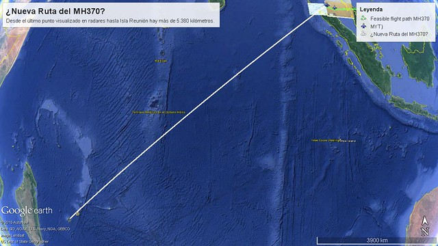 ¿Nueva Ruta MH370?