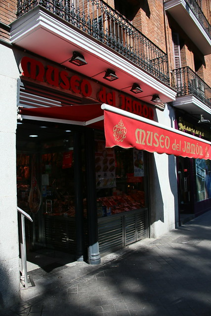 Museo de Jamon.  Madrid, Spain.
