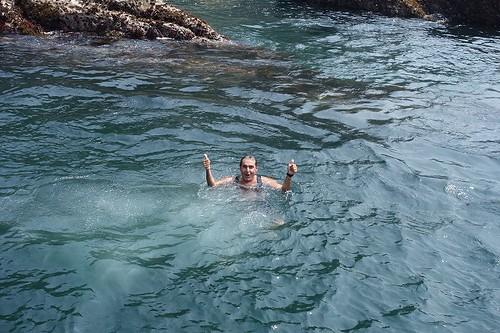 江の島で海水浴