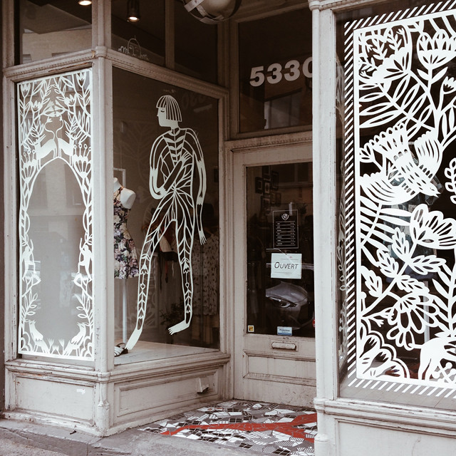 papercut window display