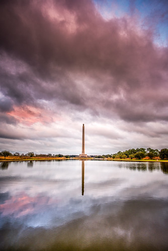 sanjacinto houston texas monument washingtonmonument bayou santaana water reflection reflecting sunset sunsets sunrise sunrises landscape photo photos photography
