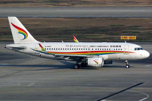 Tibet Airlines | Airbus A319 | B-6441 | Shanghai Hongqiao