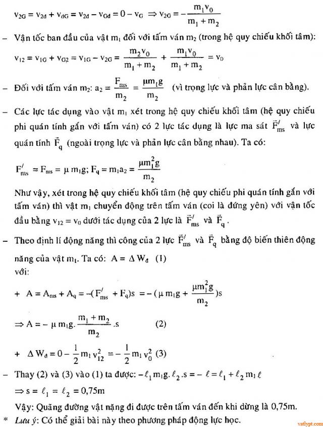 Bài tập định lý động năng, vật lý phổ thông