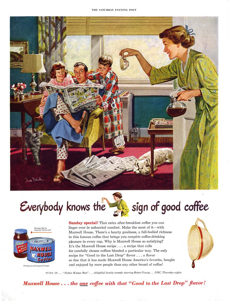 Maxwell House Coffee - published in The Saturday Evening Post - 1950