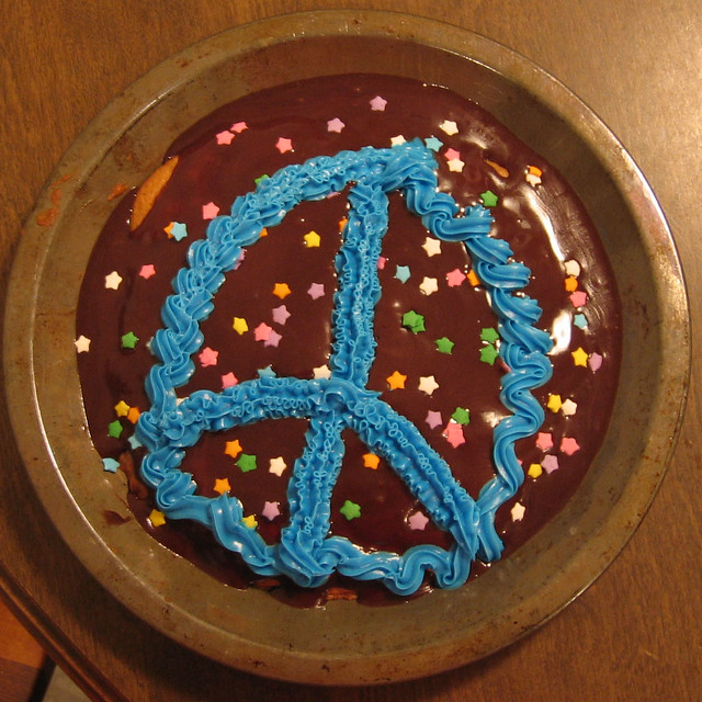 Peace Sign Cake Topper