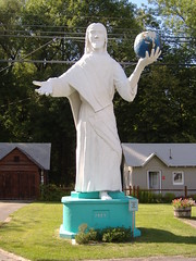 Jesus holding earth