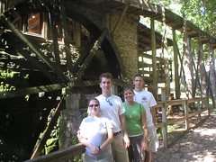 Friends at Grist Mill Wheel