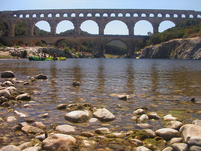 Pont du Garde - remains of a Roman aqueduct