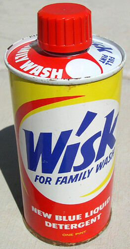Wisk Liquid Detergent Can, 1950's