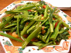 vegetable, choy sum, water spinach, green bean, produce, food, dish,