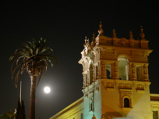 Harvest Moon over Balboa Park