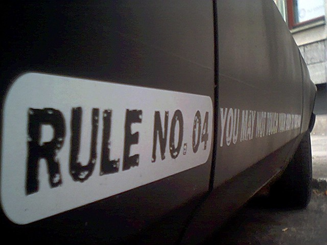 rule no.04 from Flickr via Wylio