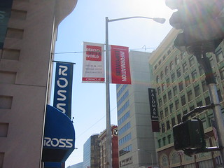 Oracle banners downtown at San Francisco