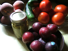 plum, vegetable, damson, produce, fruit, food, still life,