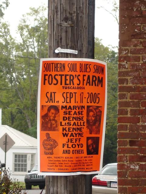 Southern Soul Blues Show Poster, Eutaw AL