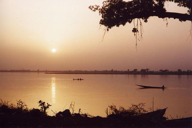 sunset in Segou
