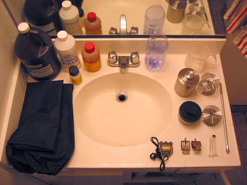 12-step bathroom-sink-darkroom program