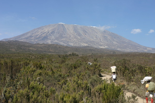 Kibo from Rongai route - Day 2 unusual hiking routes