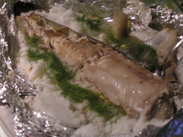 Salt baked ling cod flickr photo sharing for Is cod fish kosher