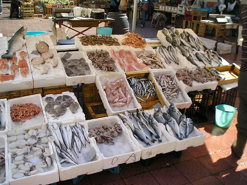 Fresh fish in the market Monopoli 14th sept 2005