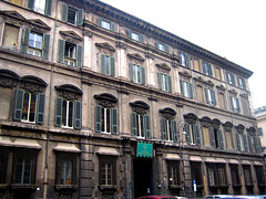 The facade built by order of Prince Camillo Pamphilj: here the first set of staterooms can be visited today.